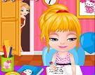 Barbie Bebek Ev Ödevi Tembelliği