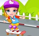 Barbie Bebek Kaykay Kazası