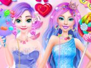 Barbie ve Elsa Candyland
