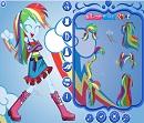 Bayan Sadakat Rainbow Dash Giydirme