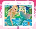 Deniz Kızı Barbie Karışık Puzzle