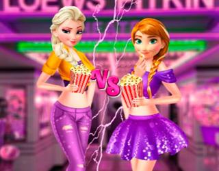 Elsa ve Anna Sinemaya Gidiyor