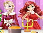 Elsa ve Ariel İçin Yemek Masası Hazırla