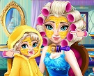Elsa ve Çocuğu Makyajı