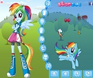 Equestria Girls Rainbow Dash Giydir