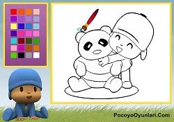 Pocoyo ve Panda Boyama