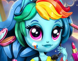 Rainbow Dash Makyaj ve Giydirme