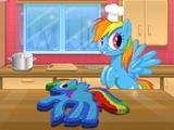 Rainbow Dash Pastası