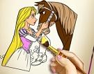 Rapunzel Boyama Kitabı