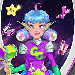 Uzaylı Kıza Makyaj Yap